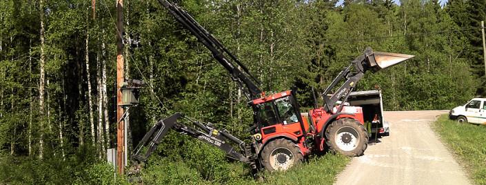 Maskin-traktor